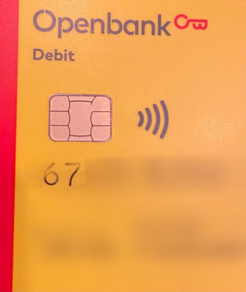 OpenBank - Inkt op betaalpas loopt uit