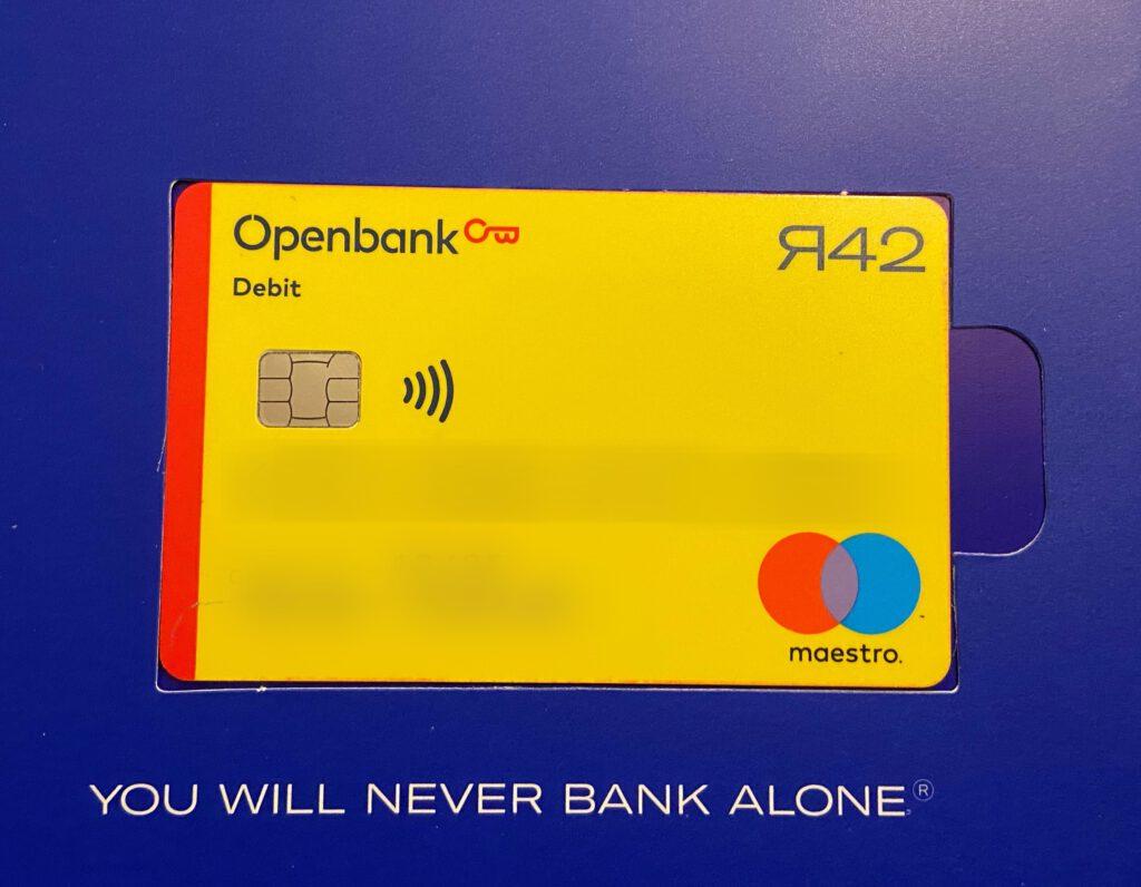 OpenBank - Betaalpas per post ontvangen