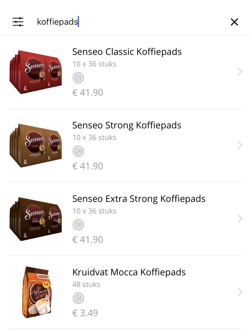 Producten zoeken